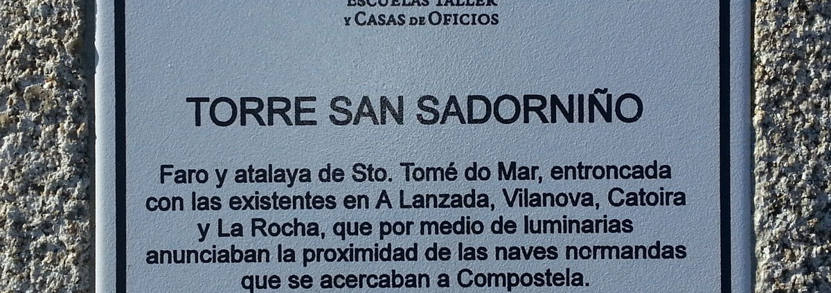 Cartel Torre de San Sadorniño