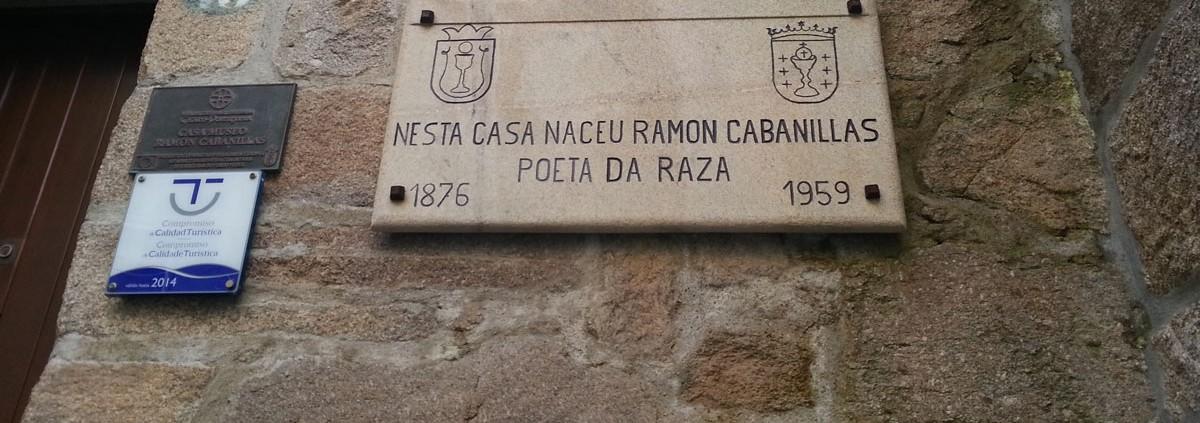 Casa Museo Ramón Cabanillas Placa