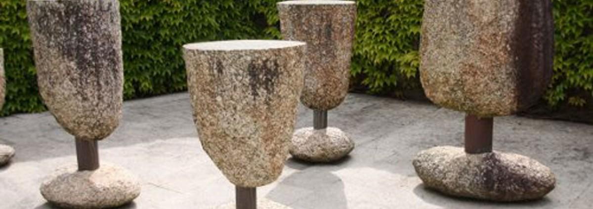 Copas de Piedra en el Museo del Vino de Cambados