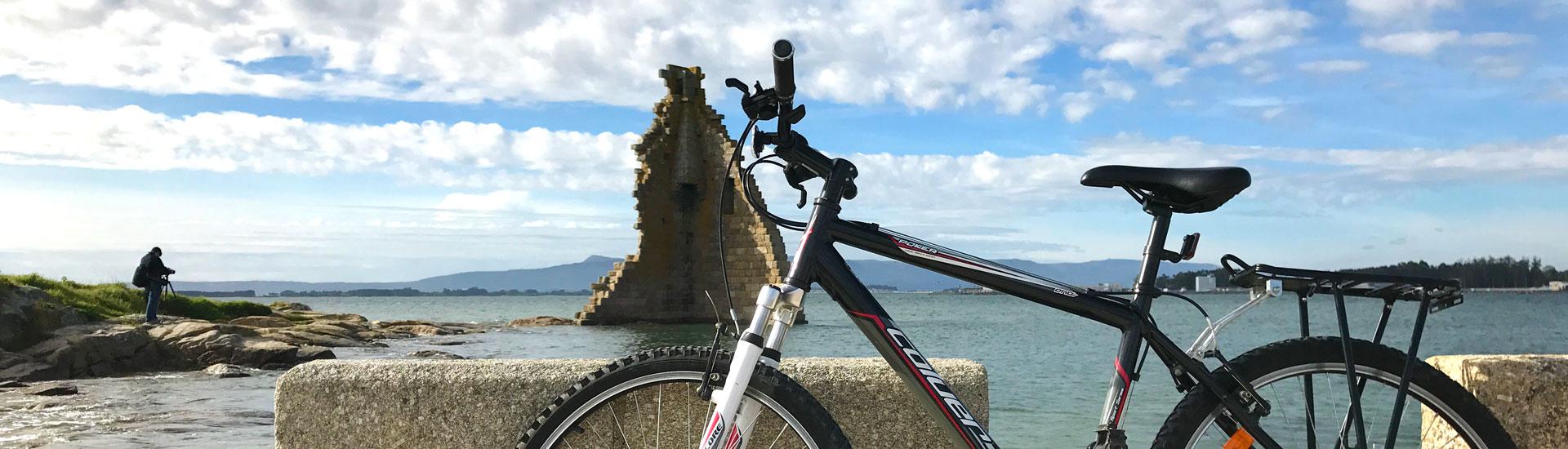 Bicicleta en Cambados